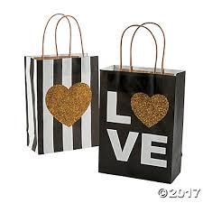 gold gift bags gold glitter wedding kraft paper bags