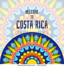 welcome costa rica boho tribal colorful stock vector 451133053