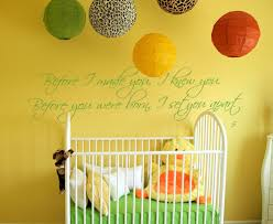 Nursery Sayings Wall Decals Before I Made You I Knew You Wall Decal Trading Phrases