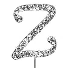 z cake topper letter z beautiful diamante cake cupcake topper