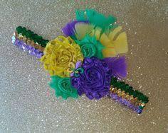 mardi gras headbands fluer di lis mardi gras headband hair mardi gras hair clip