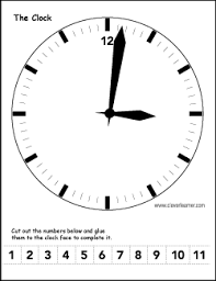 label the clock activity worksheet