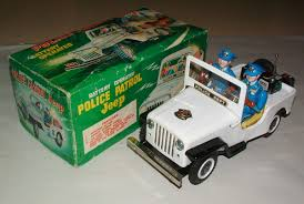police jeep toy nomura police patrol jeep battery op toy 50s ebay vintage