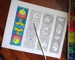 coloring bookmarks 12 bookmarks print color digital