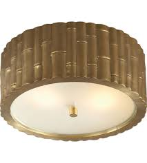 Flush Mounted Lighting Fixtures Visual Comfort Ah4004nb Fg Hton Frank 2 Light 11 Inch