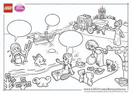 Lego Disney Princess Coloring Pages The Family Brick Coloring Pages Lego