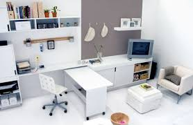 furniture modern small office design decoration with white office