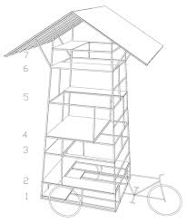 bureau a ta đi ôtô mini skyscraper on a tricycle by bureau a