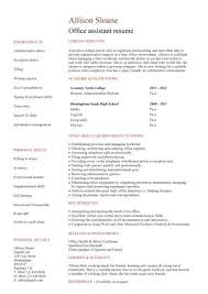 Office Administrator Resume Examples by Office Assistant Resume Create My Resume Best Office Assistant