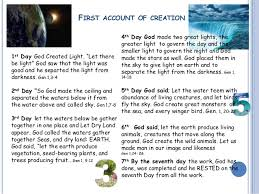 what day did god create light creation lesson 2