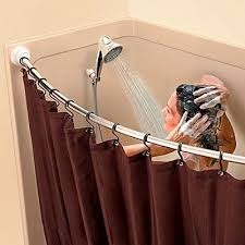 52 best curved shower curtain rods images on pinterest bathroom