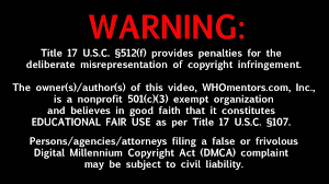 copyright fair use disclaimer youtube