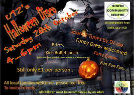 halloween family disco sinfin community centre