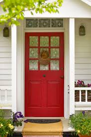 White Front Door Exterior Fetching White Front Porch Design And Decoration Using