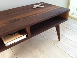 modern walnut coffee table mid century modern coffee table black walnut with by scottcassin