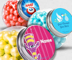 candy containers for favors custom invitations party banners personalized party favors