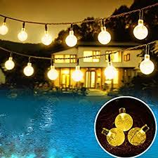 Outdoor Garland With Lights by Amazon Com Chuzzle Ball Solar String Lights Loende Christmas