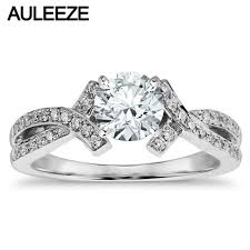 intertwined wedding rings aliexpress buy split shank intertwined lab grown diamond