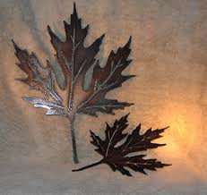 autumn leaves metal wall decor suitable for indoors or zoom