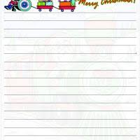 free printable writing paper to santa santa train paper