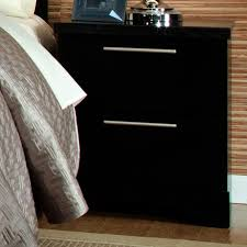 Metal Nightstands With Drawers 2 Drawer Nightstand With Slim Line Cast Metal Bar Pulls By