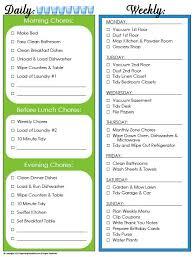 13 free sample weekly chore list templates u2013 printable samples