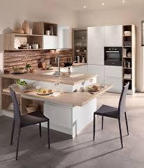 cuisine ouverte avec ilot table ilot central avec table a manger pour idees de deco cuisine ouverte