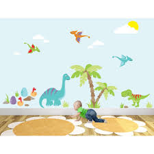 bedroom splendid awesome dinosaur nursery wall stickers