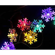 inngree snowflake solar string light 20 ft 30 led