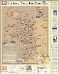 Eastern Africa Map by Great War In East Africa Map Great War Centenary Association