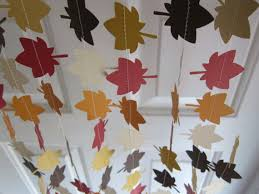 fall garland leave garland autumn decorations thanksgiving