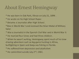 ernest hemingway life biography ernest hemingway and his work