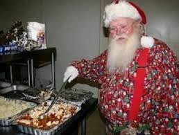 rotwnews thanksgiving dinner santa and his elves dishing