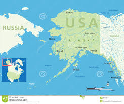 Alaska Rivers Map by Alaska Map Stock Images Image 30025554