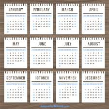 calendar template in notebook style vector free download