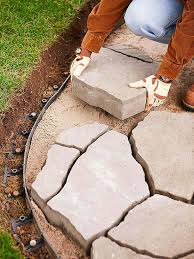 Installing Patio Pavers On Sand 2 Ways To Install A Flagstone Paver Patio Flagstone Pavers