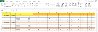 Project Management Excel Template Resource Management Ms Project Excel Or Jira 3 Options
