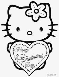 hello kitty valentine coloring pages printable valentine coloring