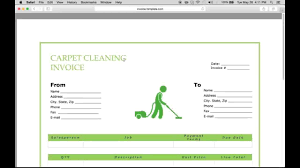 cleaning report template make a carpet service cleaning invoice pdf excel word