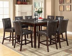Black Leather Chairs And Dining Table Square Black Glossy Dining Table And Black Leather Chairs With