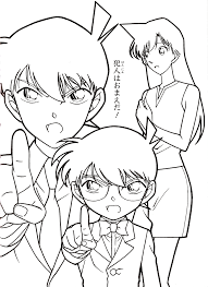 random detective conan coloring pages free coloring pages for kids