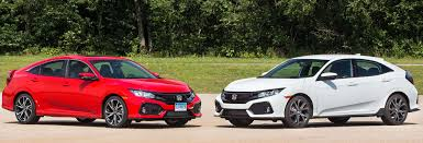 Honda Civic Si Two Door The 2017 Honda Civic Dilemma Si Or Sport Consumer Reports