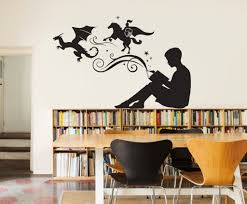 boy reading magic book wall decal vinyl art stickers for