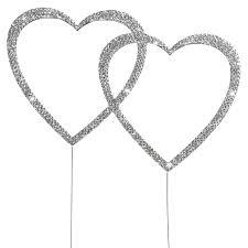 heart cake topper diamante heart cake topper wedding cake decorations the cake
