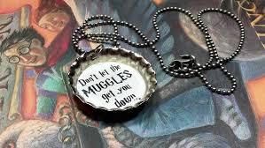 bottle cap necklaces ideas diy harry potter bottle cap charm necklace youtube