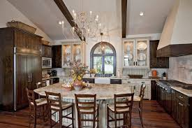 The Terrace Mediterranean Kitchen - shiloh cabinets for a mediterranean kitchen with a arched window