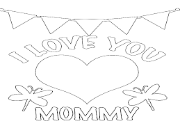 i love you mom coloring page free download