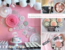 Winter Party Decorations Kara U0027s Party Ideas Snowflake Winter 5th Birthday Party