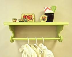 design clothes etsy sumptuous wall shelf with hanging rod clothes etsy nursery laundry