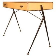 Flat Top Desk Metal And Wood Large Flat Top Desk For Sale At 1stdibs